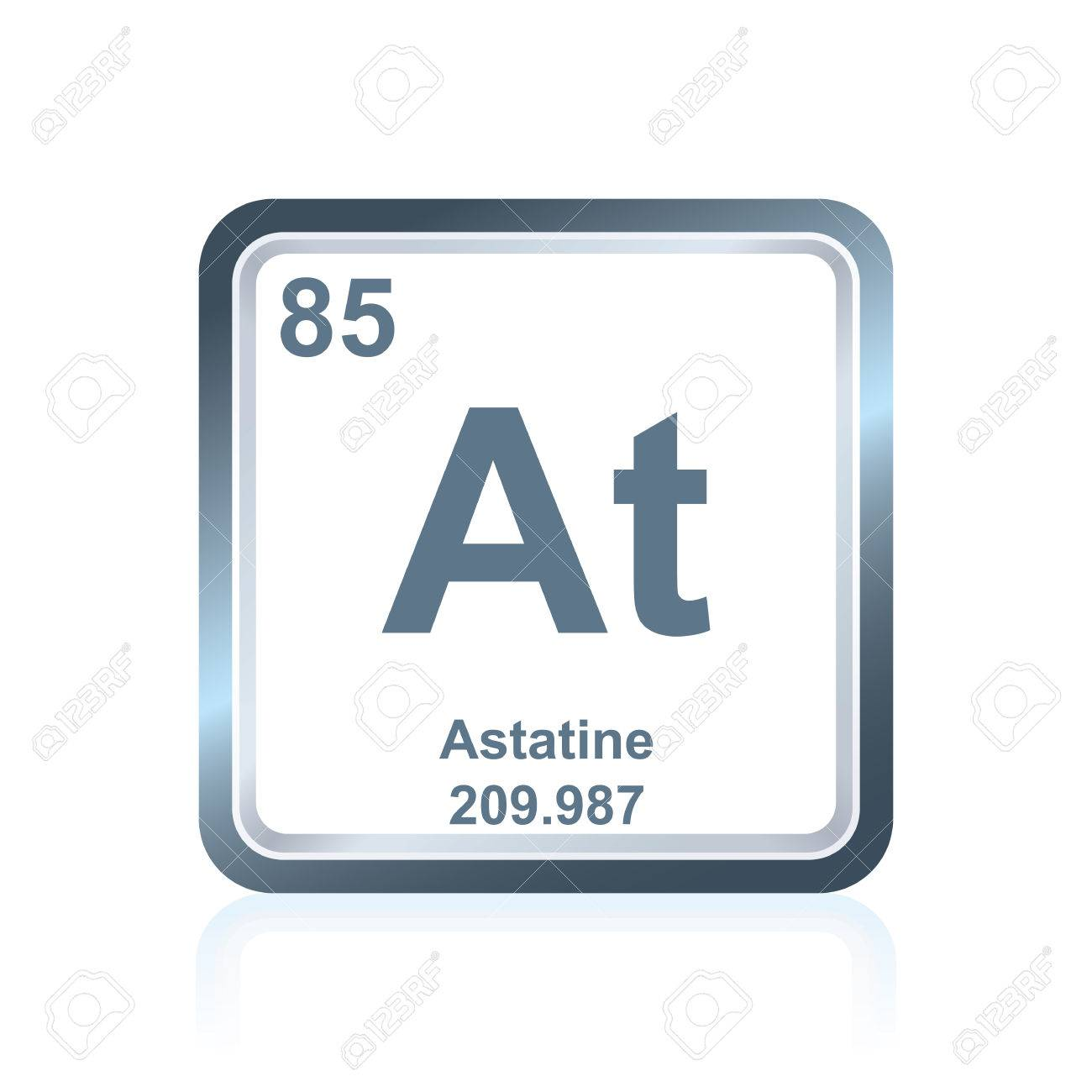Symbol of chemical element astatine as seen on the periodic table symbol of chemical element astatine as seen on the periodic table of the elements including urtaz Image collections