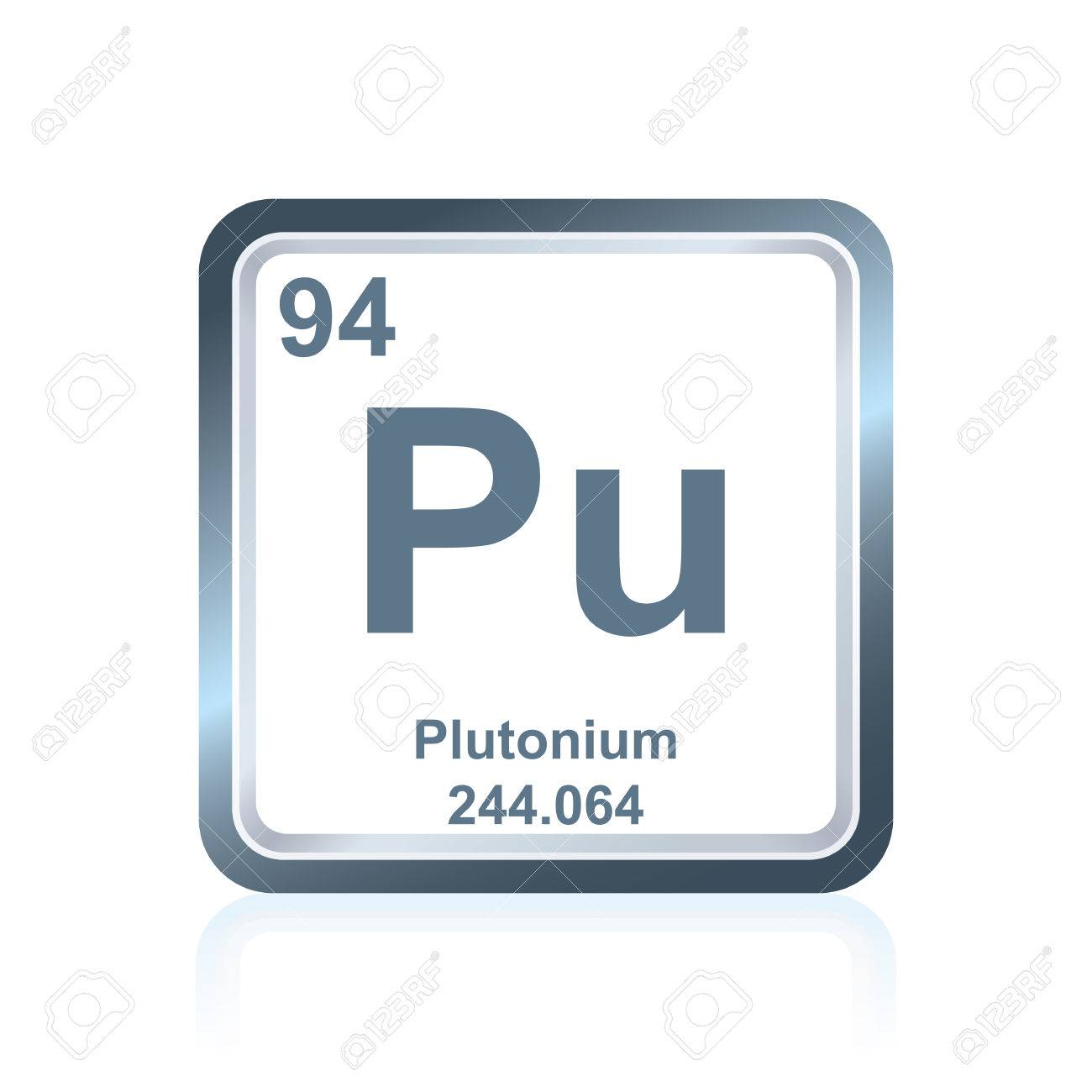 Symbol of chemical element plutonium as seen on the periodic symbol of chemical element plutonium as seen on the periodic table of the elements including biocorpaavc Image collections