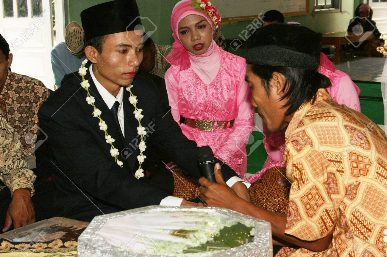 Muslim Wedding Ceremony Is A Sacred Javanese In Yogyakarta Stock Photo