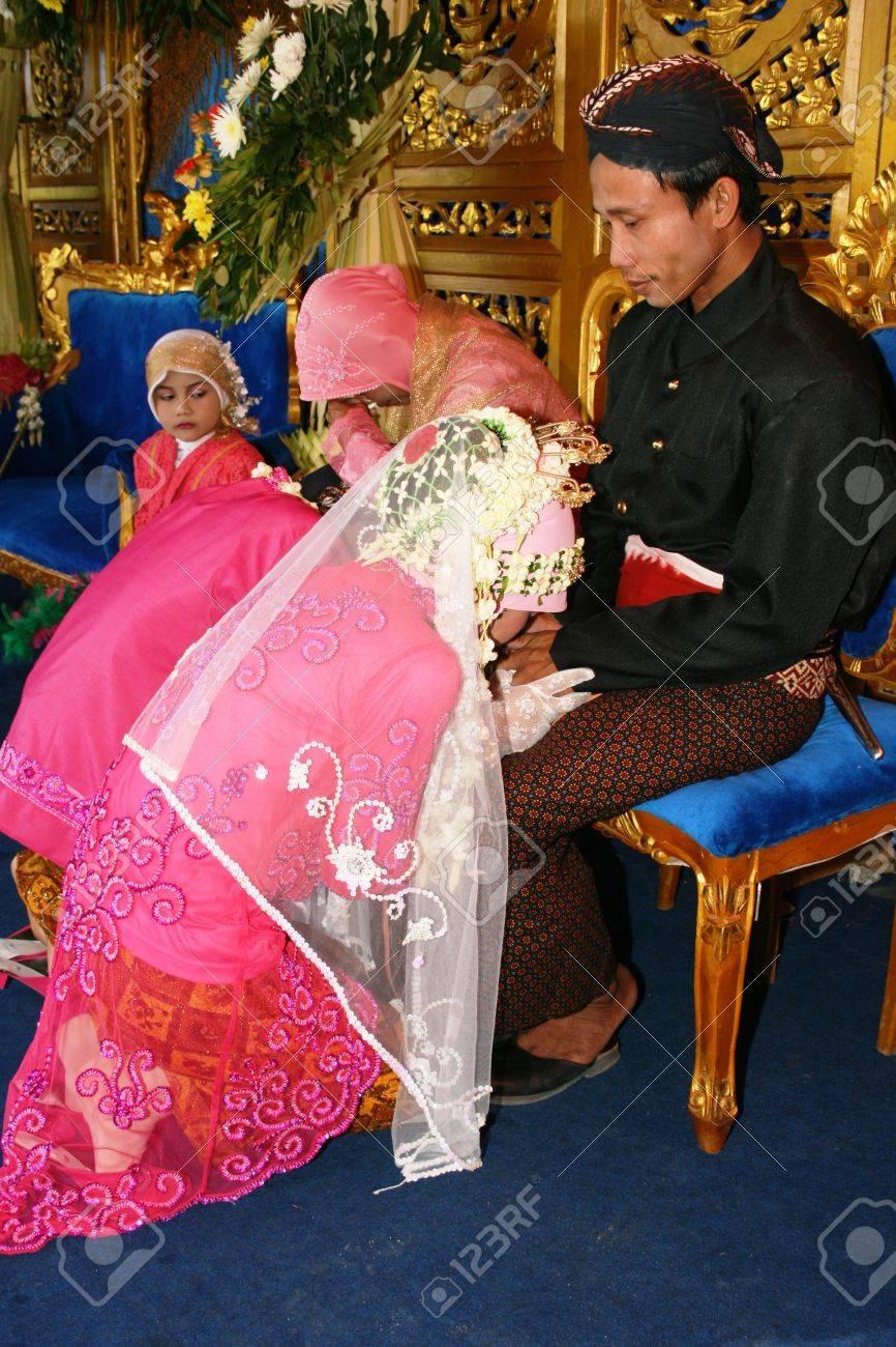 Ceremonia De Boda Musulmán Es Un Javanés Sagrado En Yogyakarta Fotos ...
