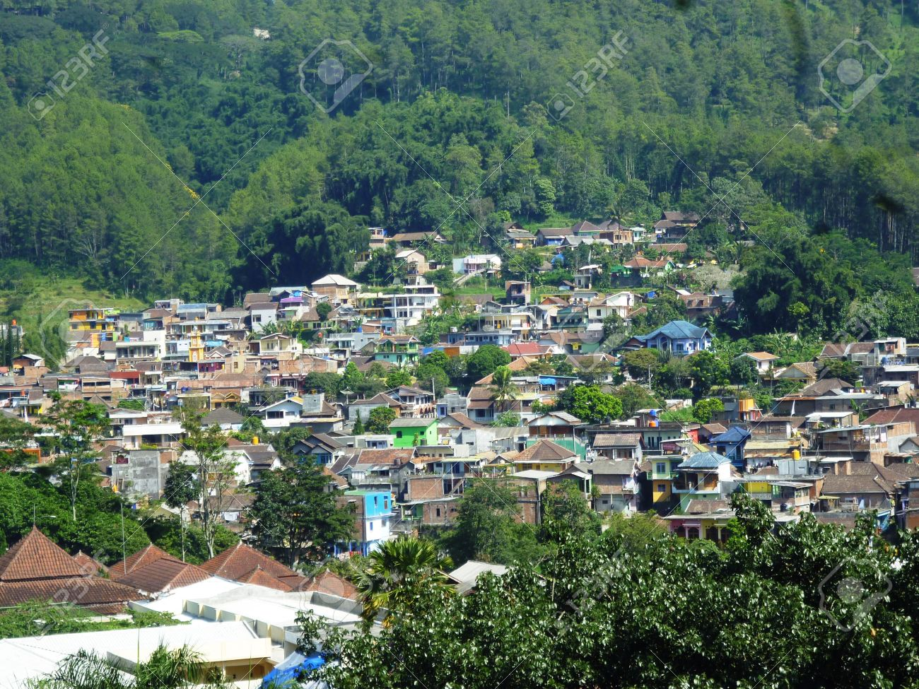 Residential Areas In Batu Hill Malang East Java Indonesia Stock Photo Picture And Royalty Free Image Image 28604009