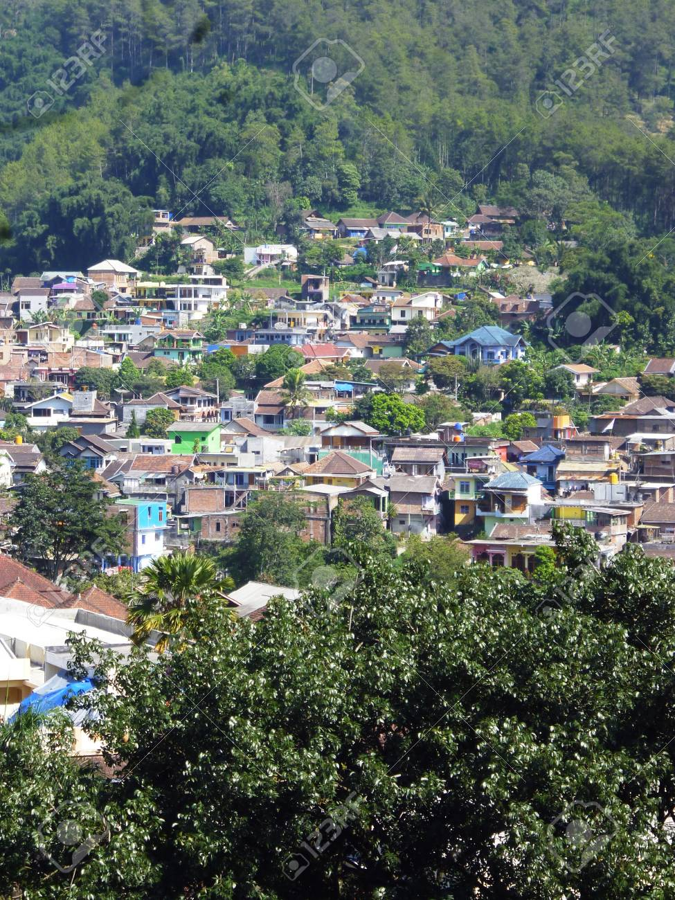 Residential Areas In Batu Hill Malang East Java Indonesia Stock Photo Picture And Royalty Free Image Image 28604012