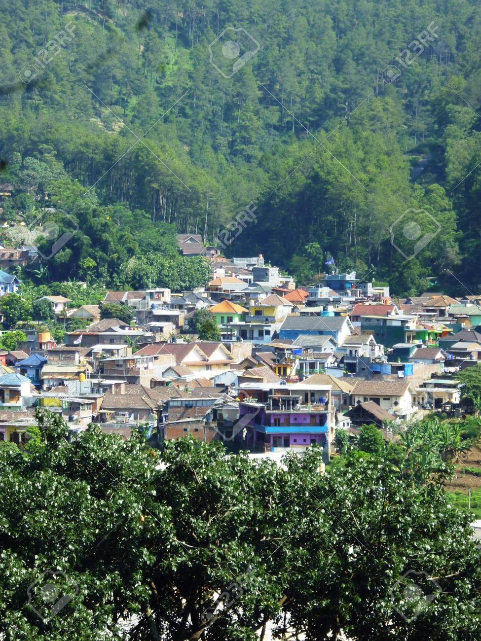 Residential Areas In Batu Hill Malang East Java Indonesia Stock Photo Picture And Royalty Free Image Image 28604013
