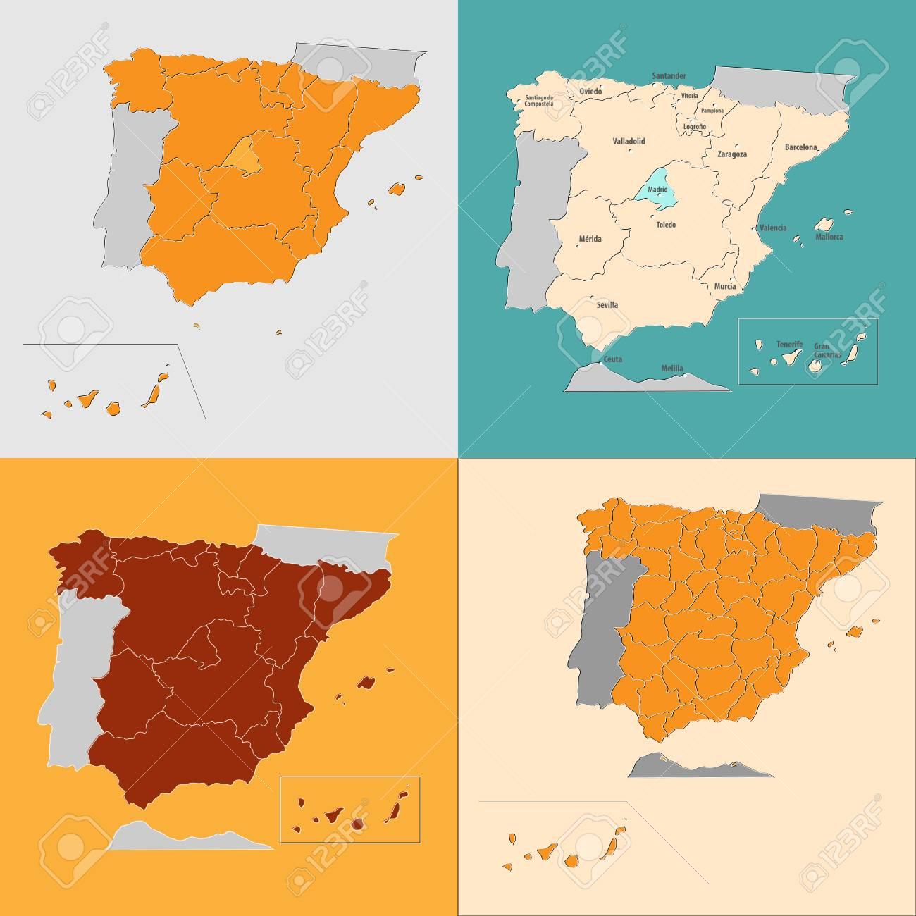 Big Map Of Spain.Map Of Spain Big In September