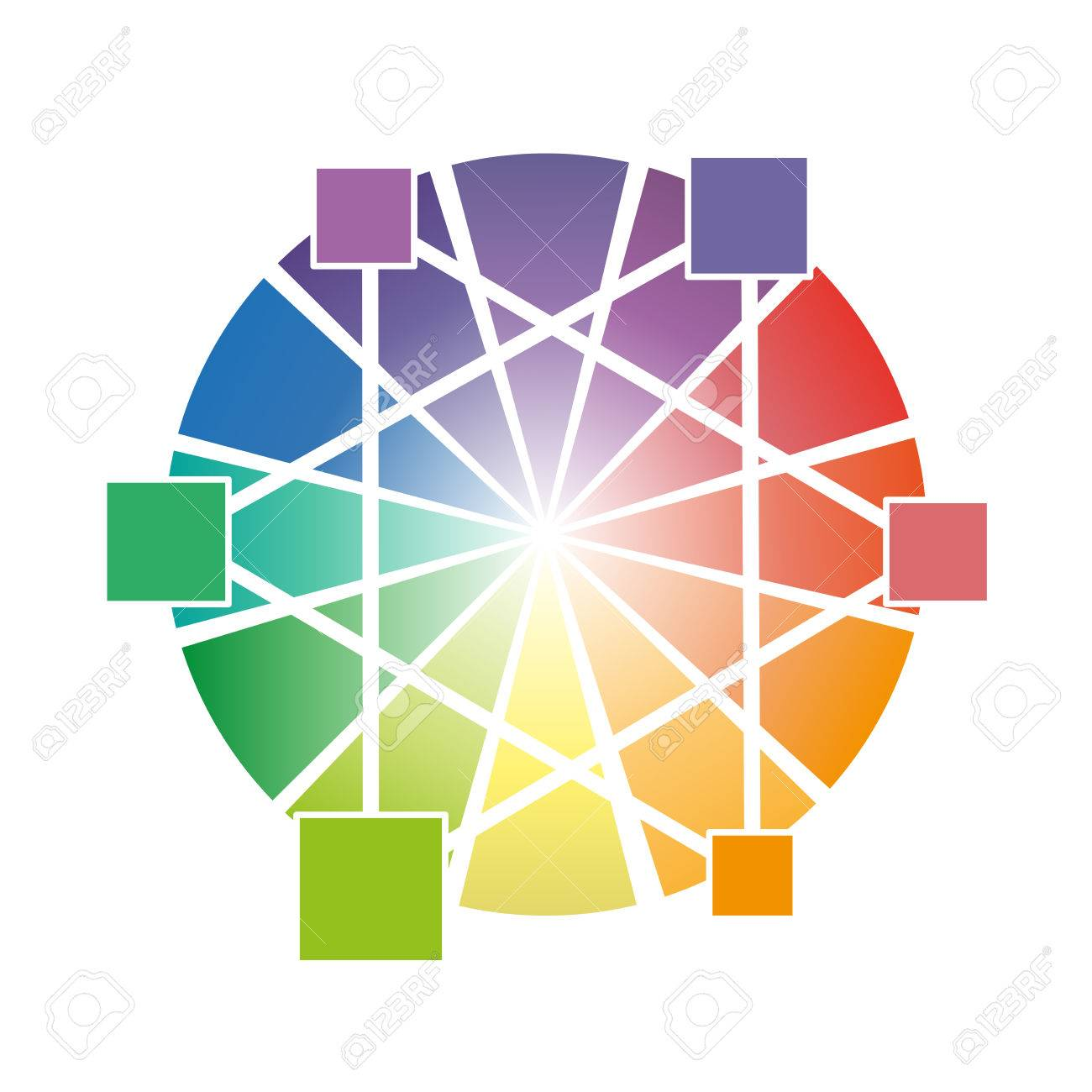 Color Wheel With Three Primary Colors Vector Illustration For