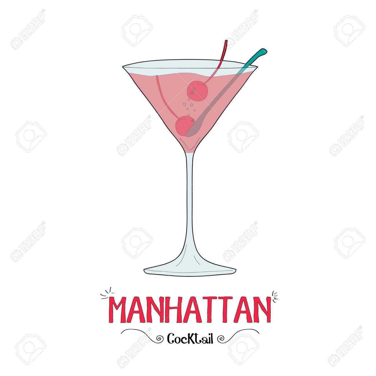 Manhattan Cocktail Bar For Business Royalty Free Cliparts Vectors And Stock Illustration Image 60315968