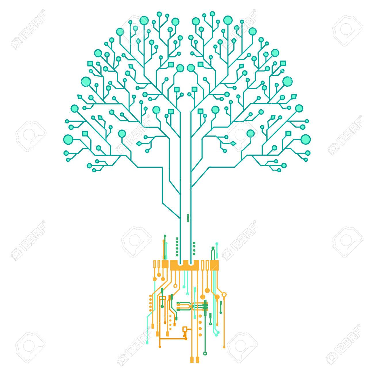 technology tree memory architecture royalty free cliparts vectors rh 123rf com