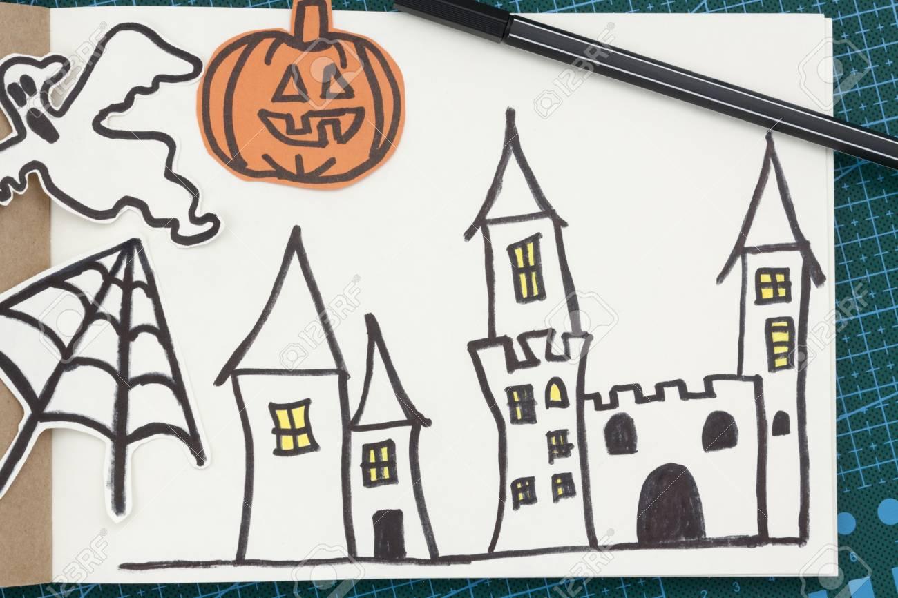 Halloween Huis Tekenen Makkelijk Rvbangarang Org