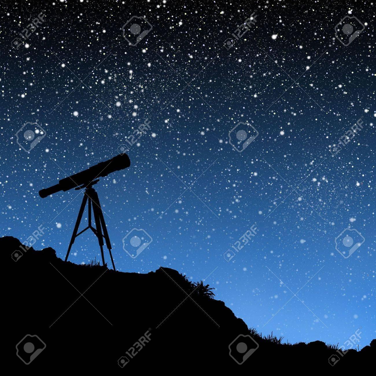 Telescope Under the Stars Stock Photo - 2250137