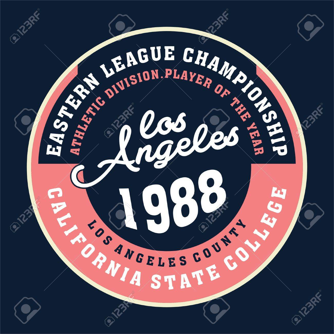 Design t shirts los angeles - Design Letters And Numbers Los Angeles Champion State For T Shirts Stock Vector 80036595