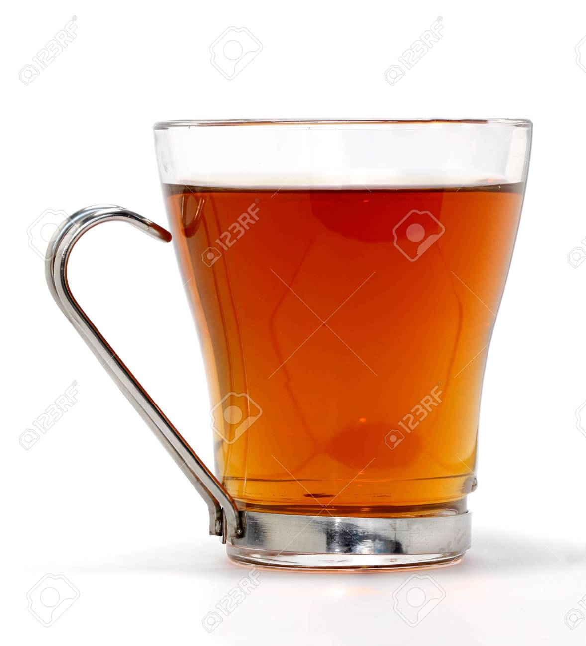 Tea in glass cup isolated on white Stock Photo - 13384304