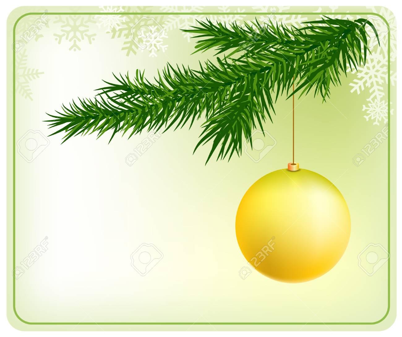christmas tree with ball Stock Vector - 13522637