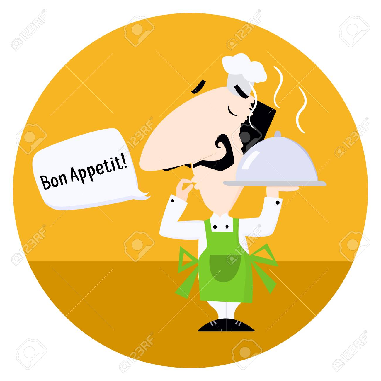 Italian Chef Saying Bon Appetit Royalty Free Cliparts Vectors And Stock Illustration Image 73964673