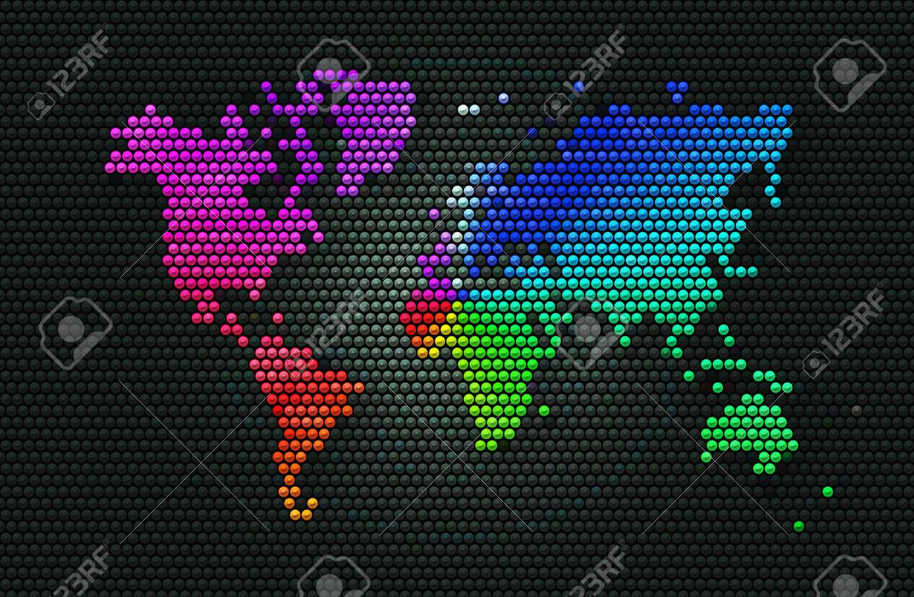 Abstract background dark grey sphere with rainbow world map of abstract background dark grey sphere with rainbow world map of the continents of the world gumiabroncs Images