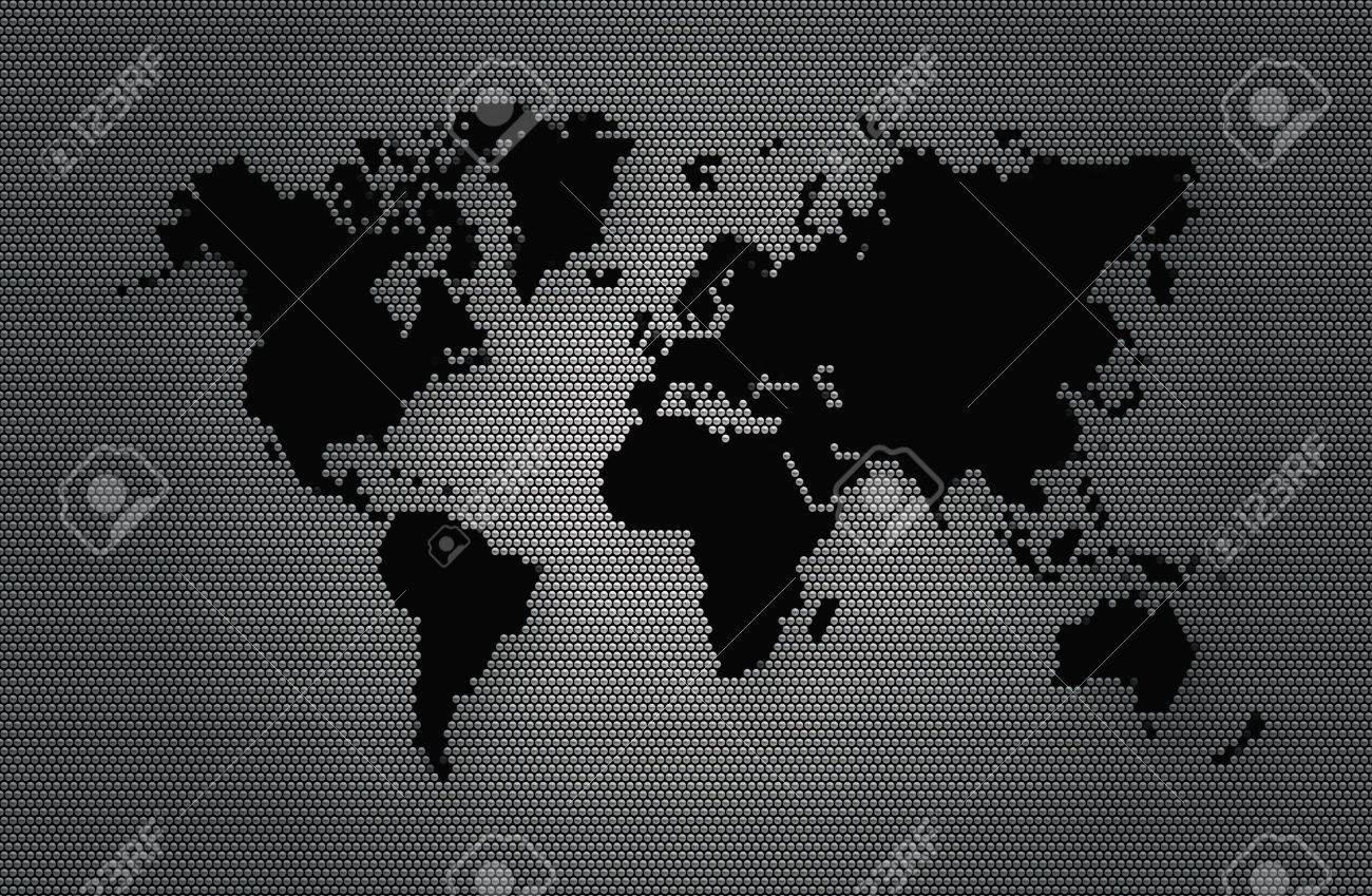 Abstract background grey sphere with black world map of the abstract background grey sphere with black world map of the continents of the world image gumiabroncs Choice Image