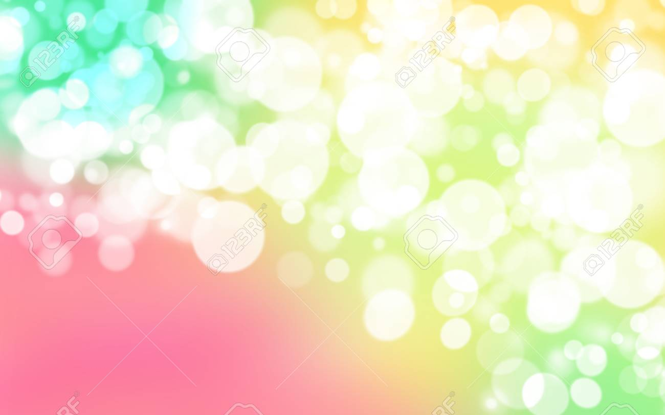 Yellow Green Pink White Abstract
