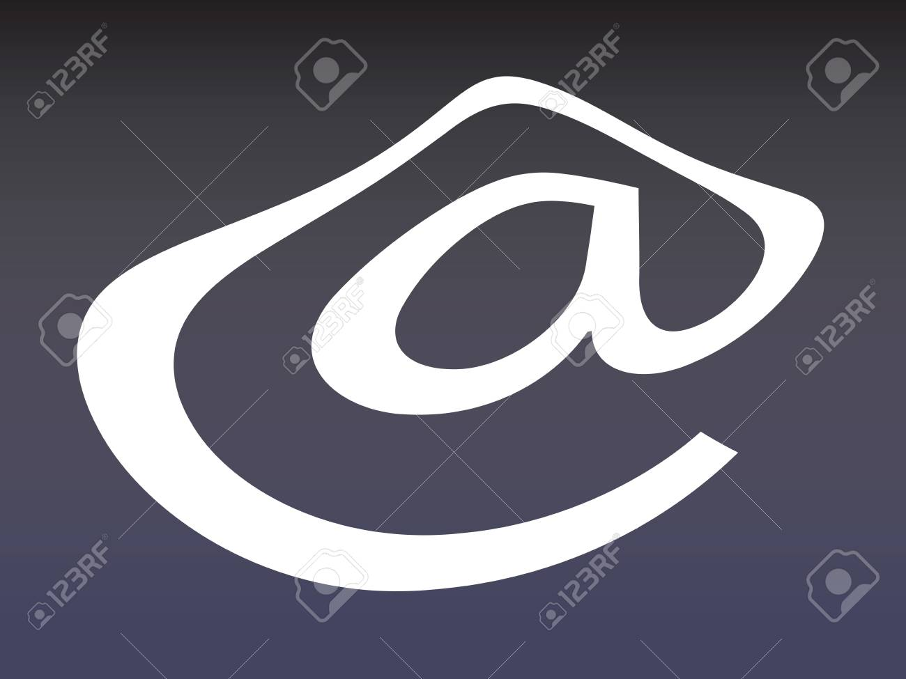Symbol Of Alpha Mail Stock Photo Picture And Royalty Free Image