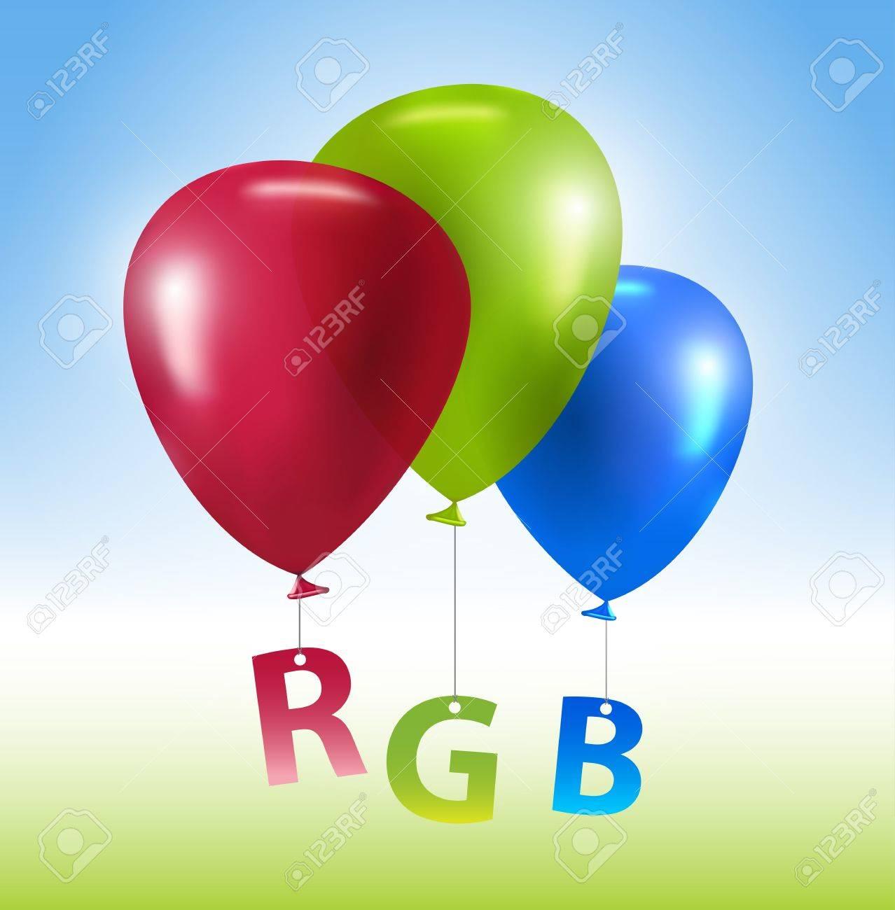 Vector colorful balloons RGB concept Stock Vector - 12807570