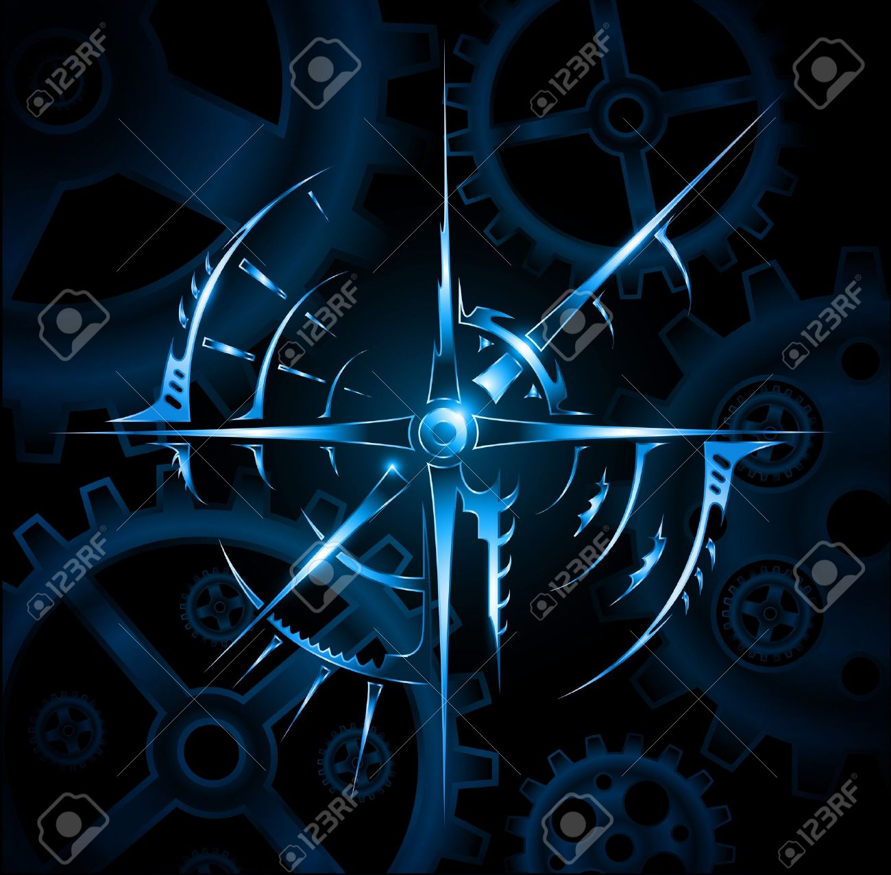 Abstract magic mechanic emblem vector Stock Vector - 12807588