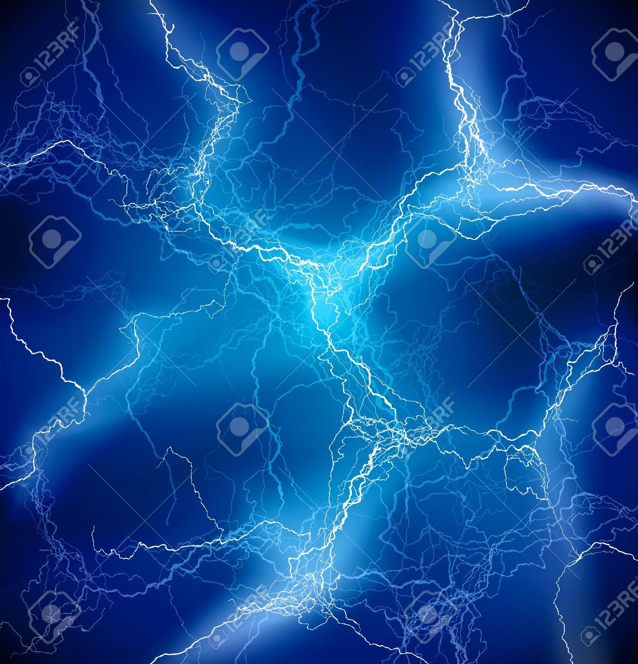 Vector Blue Lighting storm background Stock Vector - 12807600