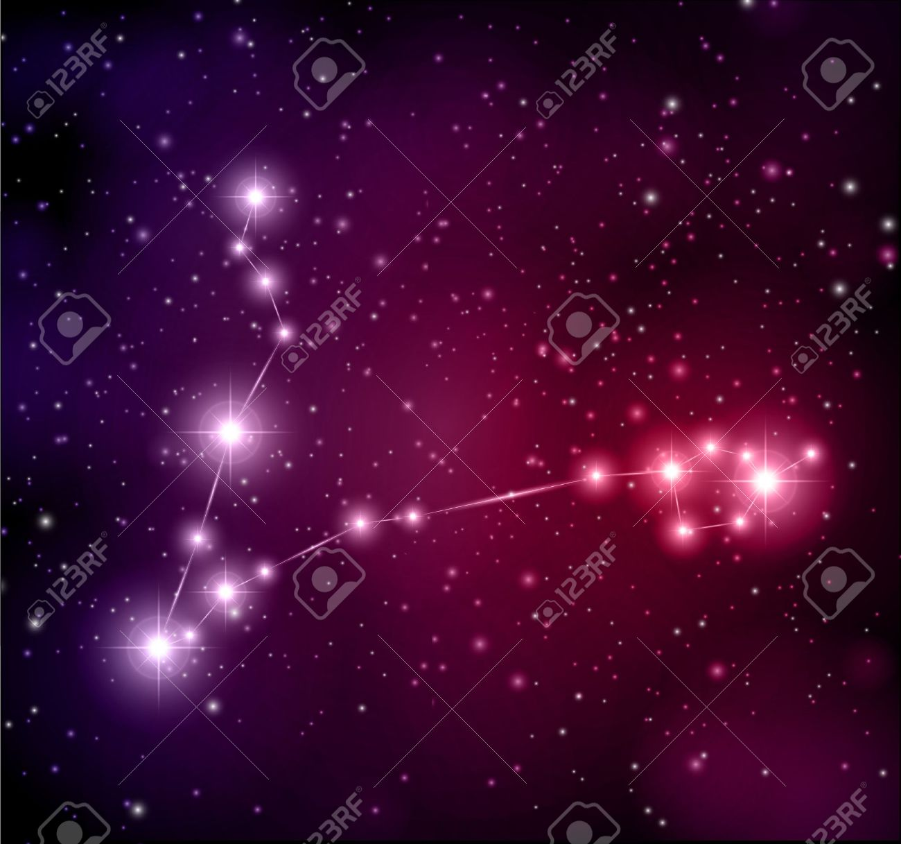 abstract space background Pisces constellation Stock Vector - 14305692