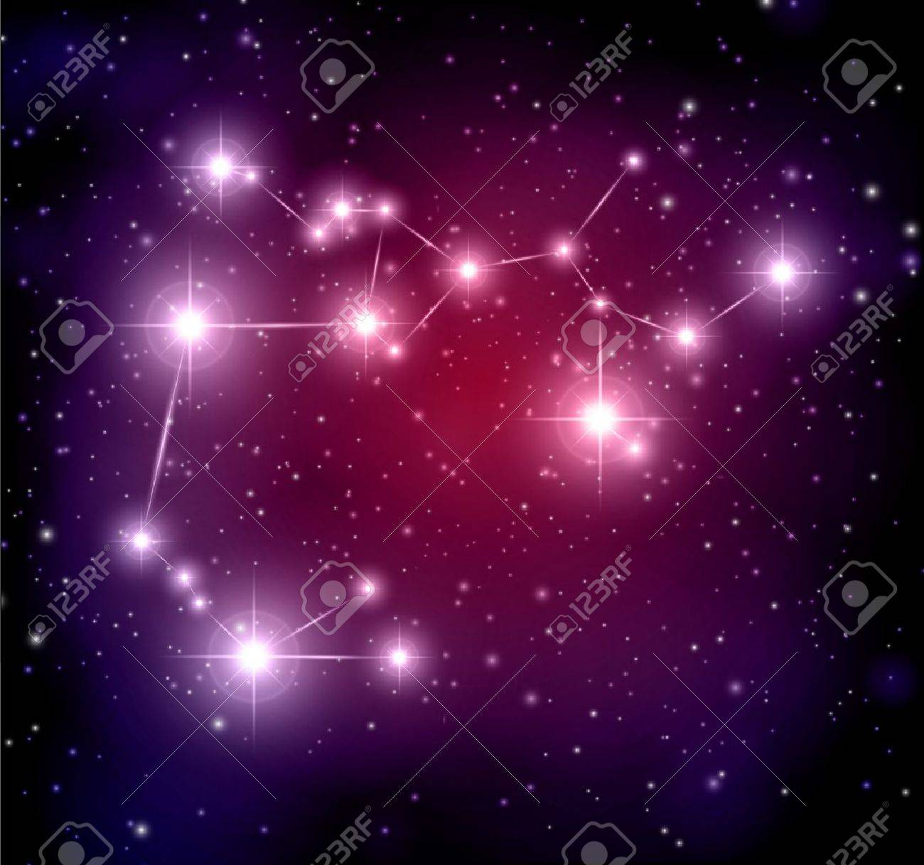 abstract space background with stars and Sagittarius constellation Stock Vector - 14305684