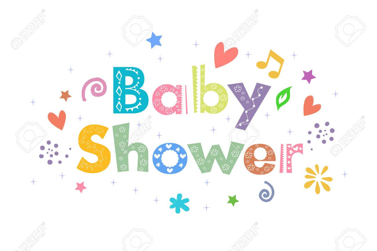 Baby Shower Message For Card Design Stock Vector   47555650