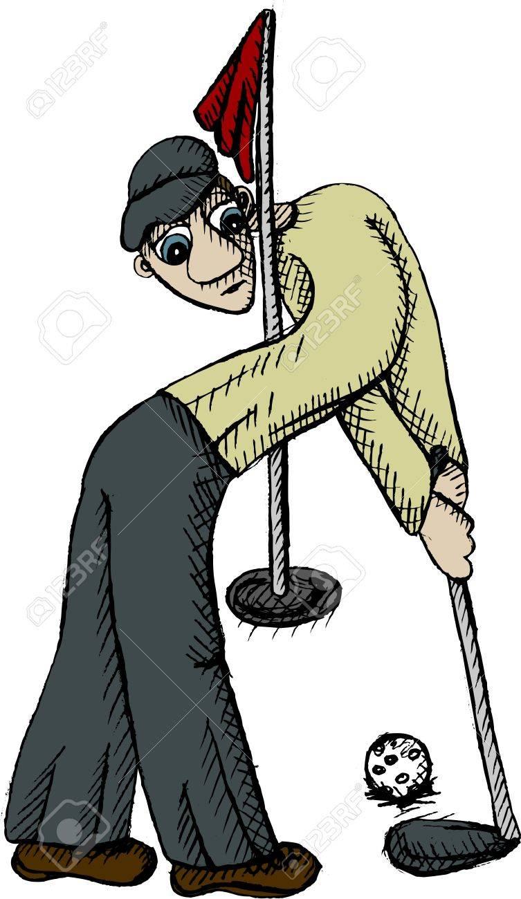 Vector illustration of golf player Stock Vector - 12078435