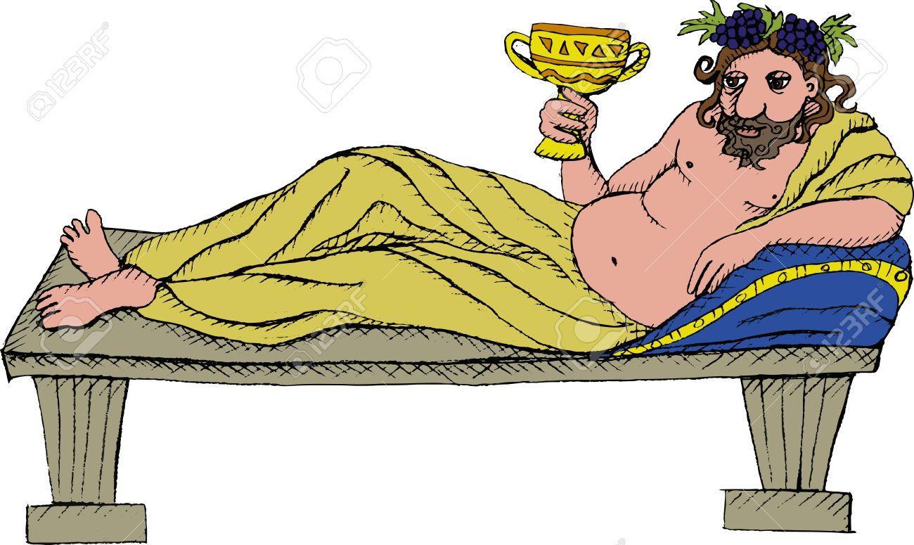 Vector illustration of Greek god Dionysus Stock Vector - 12219960