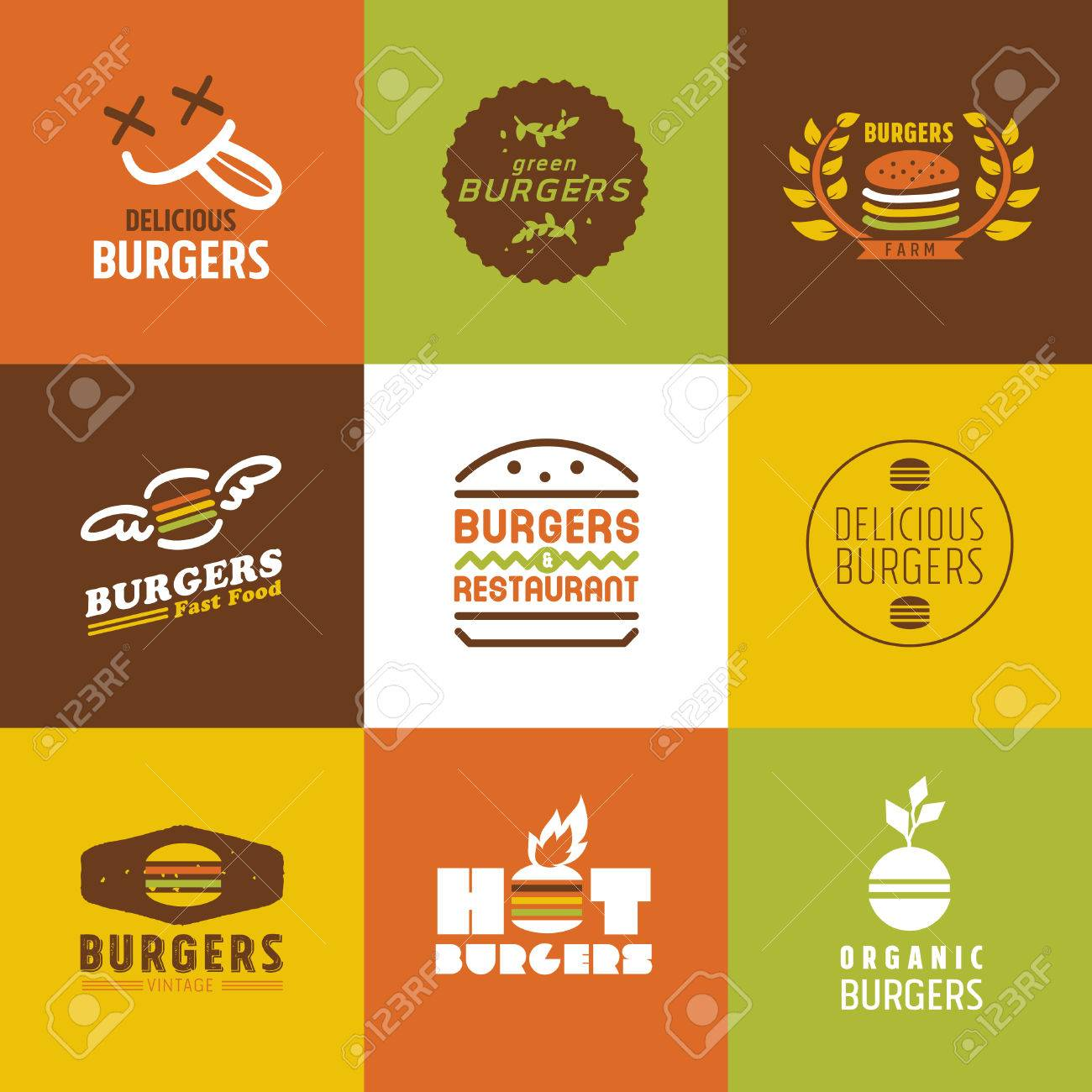 For restaurant pictures graphics illustrations clipart photos - Fast Food Restaurant Vector Logos And Icons Set Graphic Design Editable For Your Design Stock