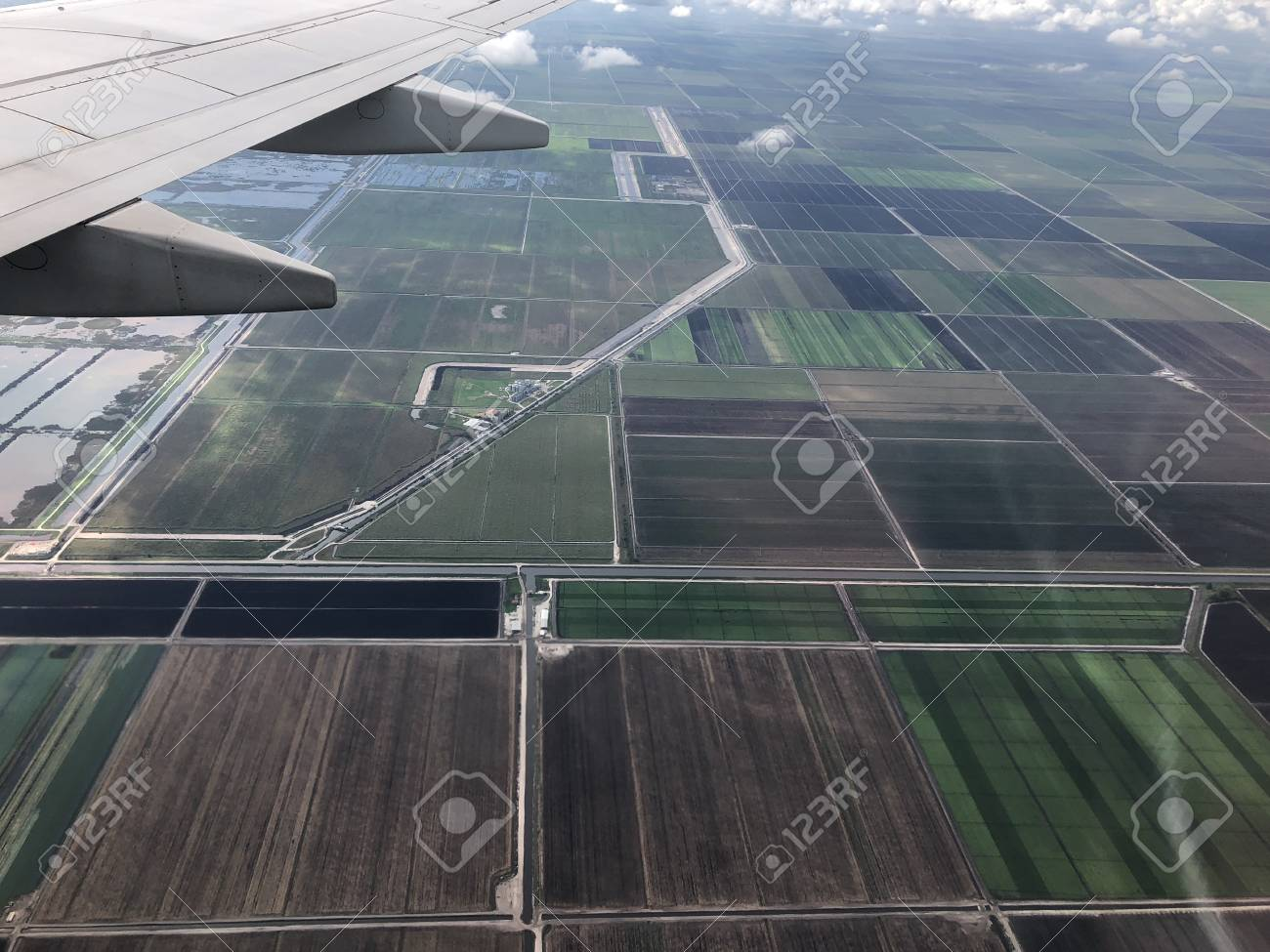 aerial view of farm land in South Florida