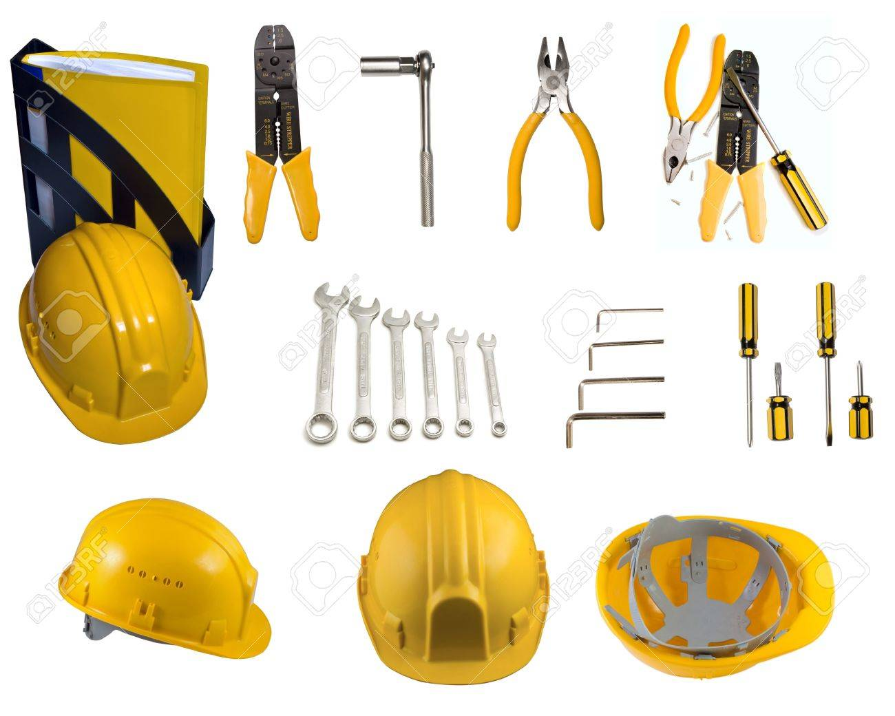 Set of tools and helmets Stock Photo - 4674520