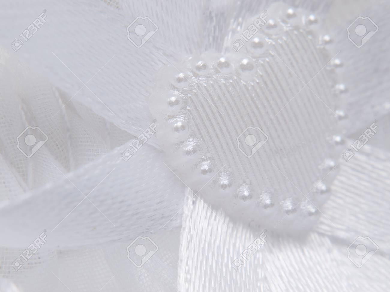 Heart, ribbons, a lace is close-up Stock Photo - 8561329