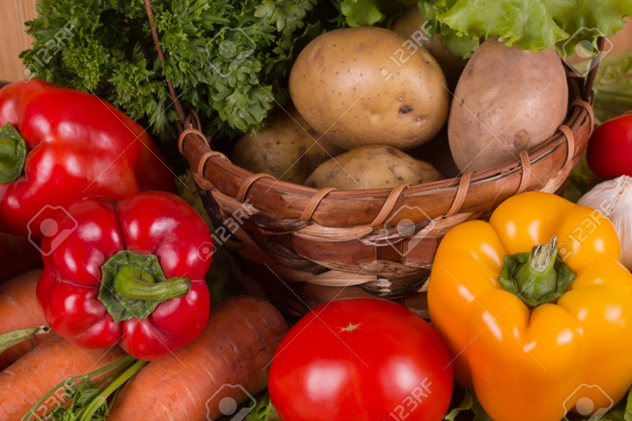 Fresh vegetables gathered from the garden Stock Photo - 15756942