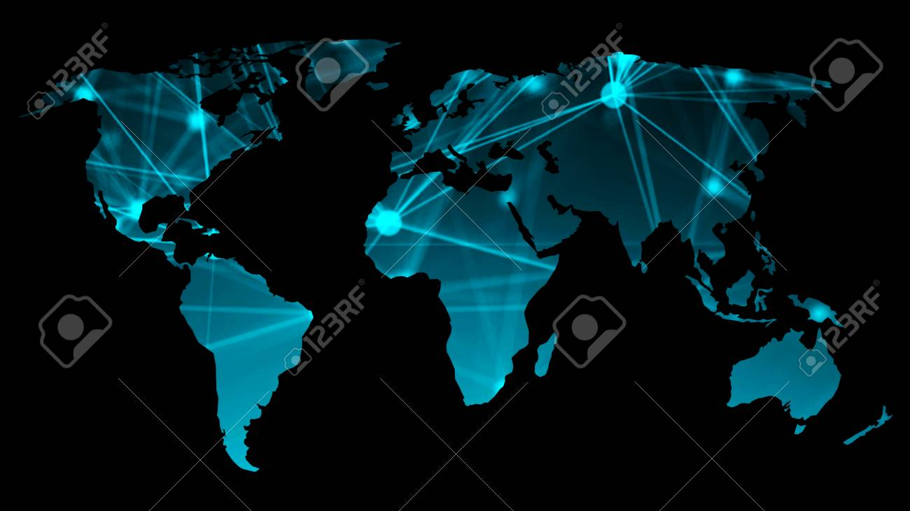 Abstract background with futuristic world map technology concept abstract background with futuristic world map technology concept backdrop 3d rendering digital background stock gumiabroncs Choice Image