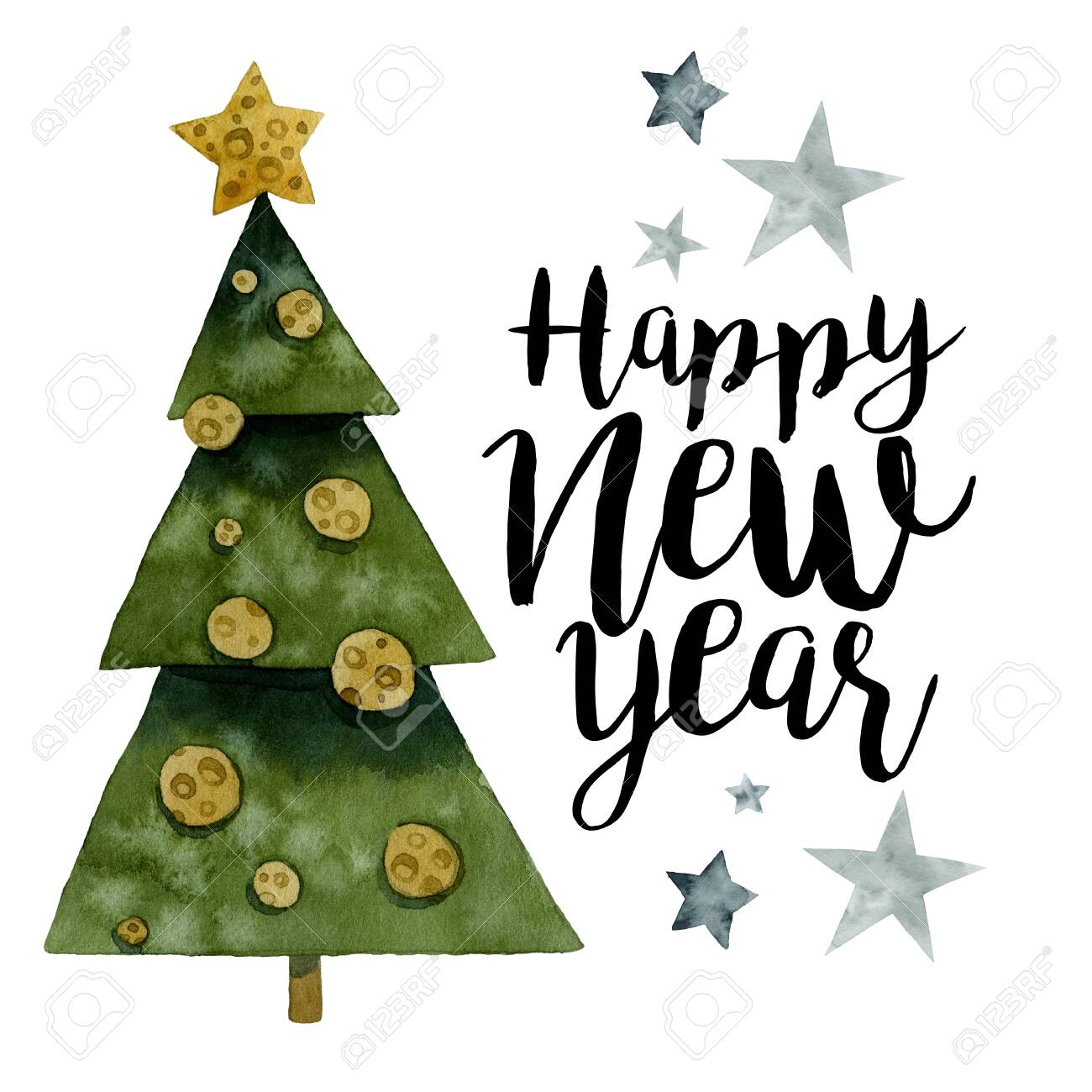 Christmas tree, decorations from cheese, Happy New Year 2020..