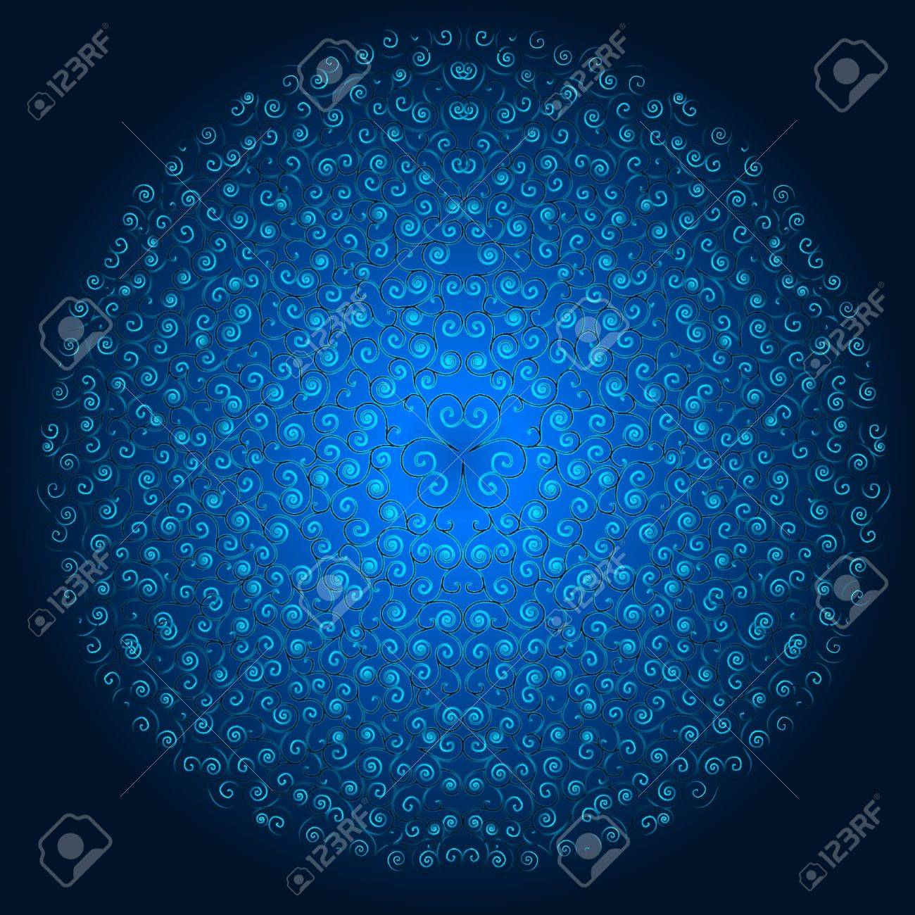 Blue Winter Background Stock Vector - 17360757