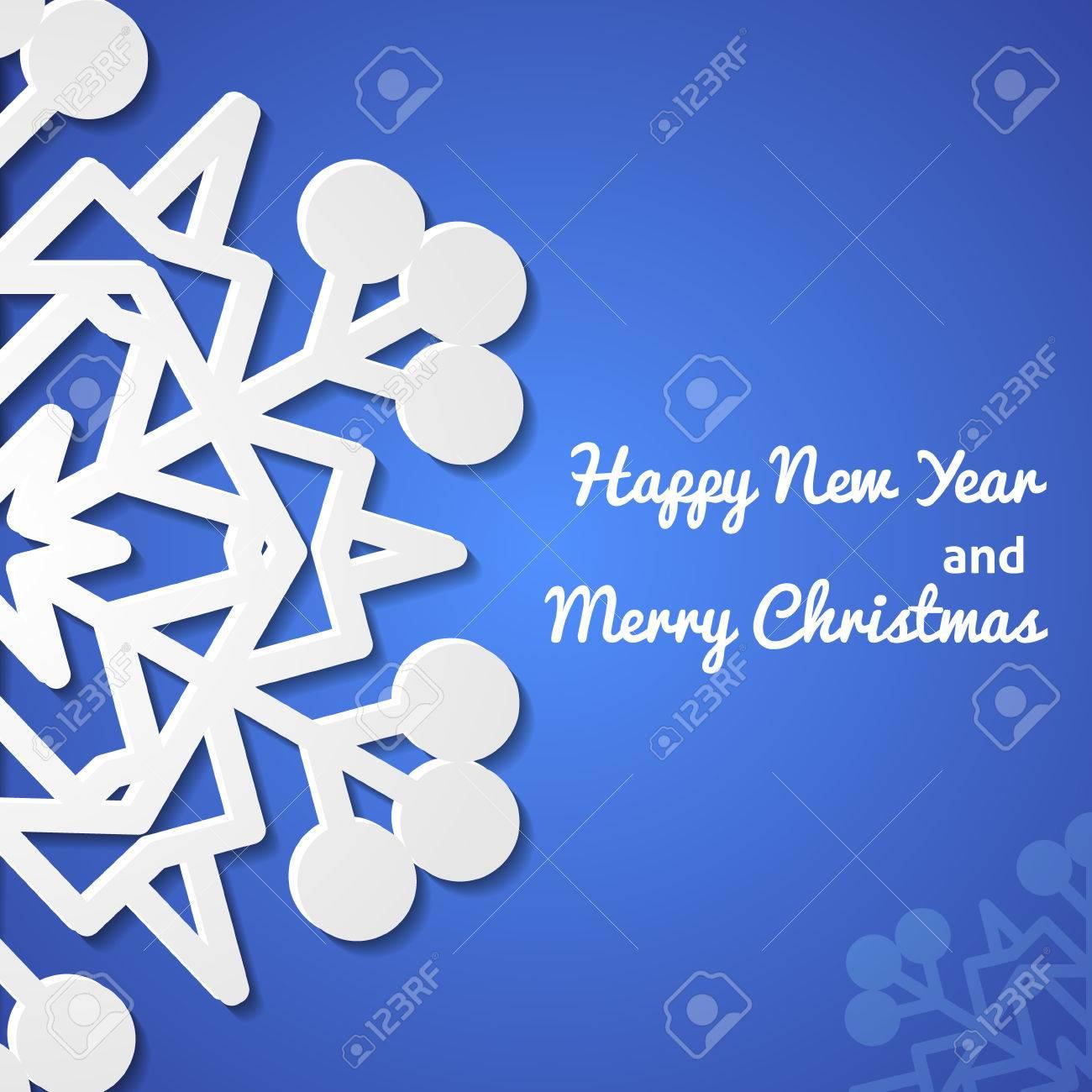 Paper christmas snowflake card Stock Vector - 23052221