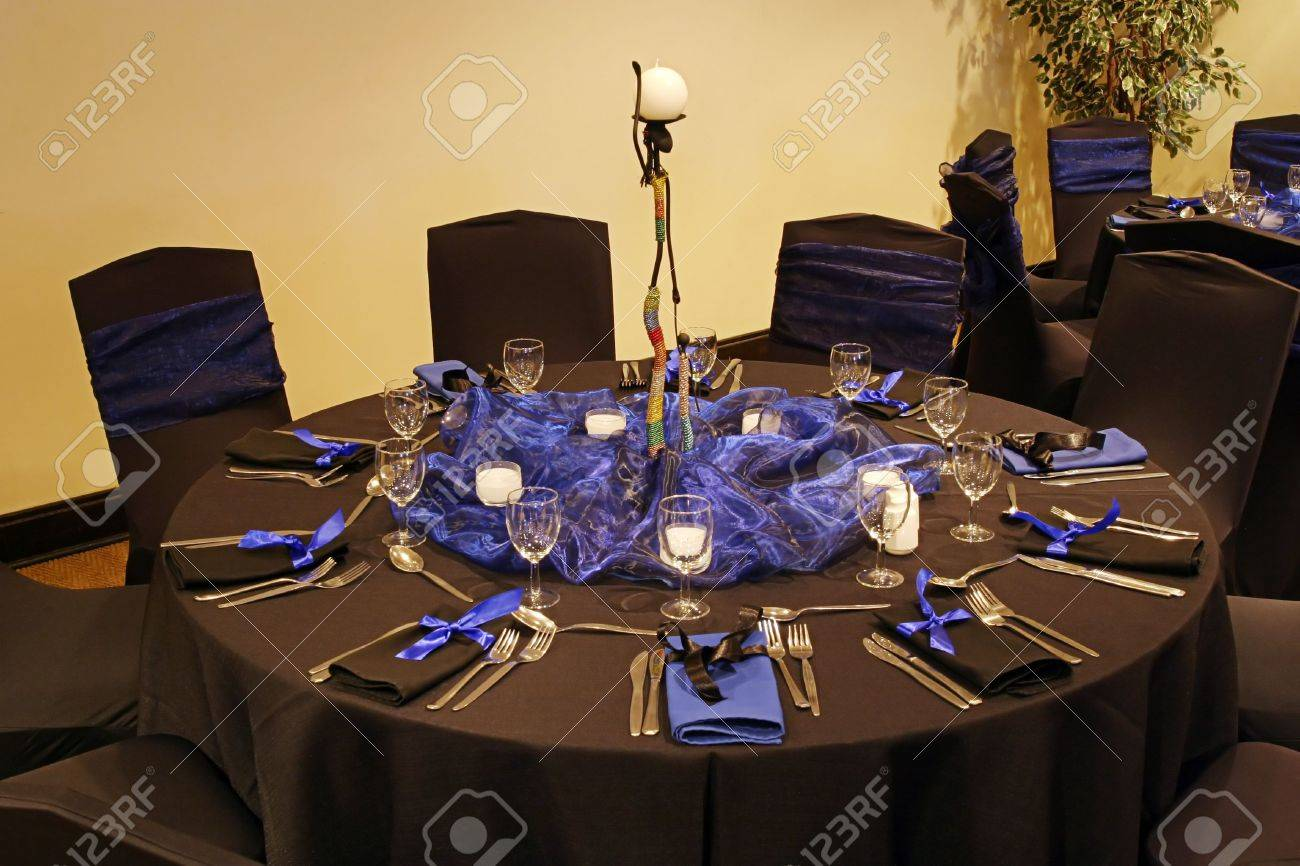 Black table setting in a african theme Stock Photo - 701586 & Black Table Setting In A African Theme Stock Photo Picture And ...