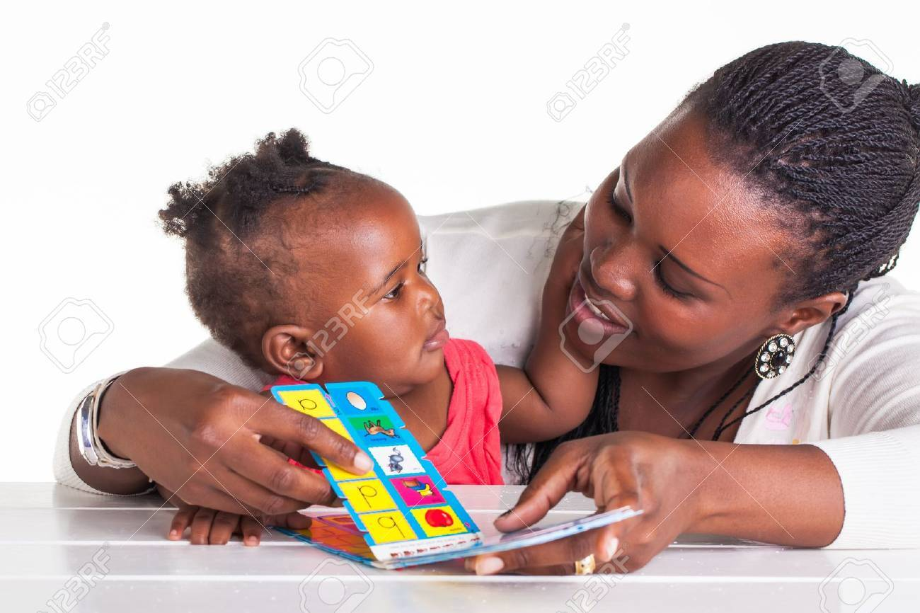 Mother and daughter are having some educational time. Stock Photo - 20077412