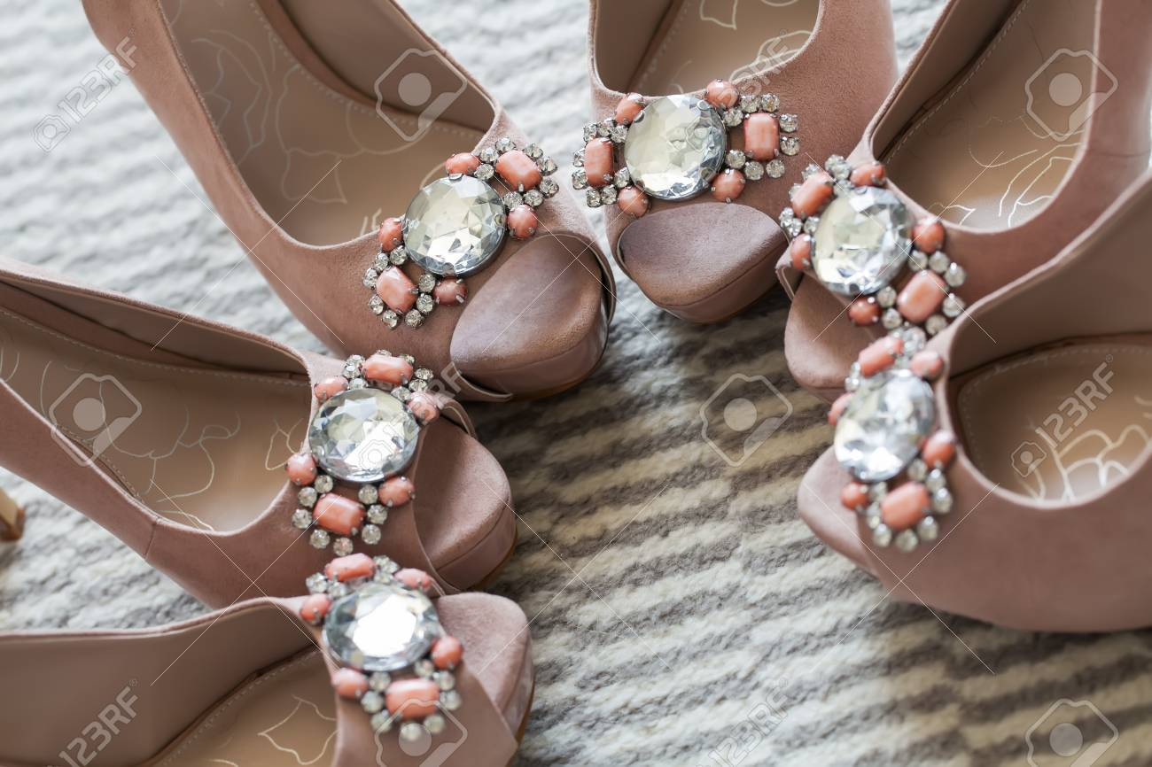 Three of the same pairs of shoes for the special girls. Stock Photo - 16018825