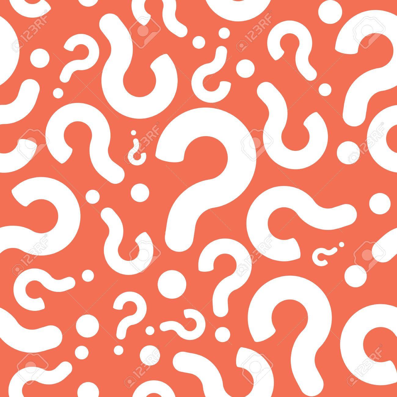 Seamless Question Mark Mystery Pattern Background Royalty Free ...