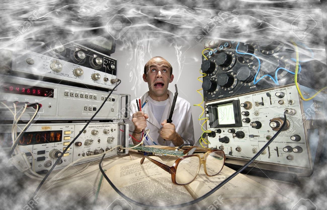 Ce fel de popor suntem - Pagina 32 18055996-Funny-nerd-scientist-soldering-at-vintage-technological-laboratory-Stock-Photo
