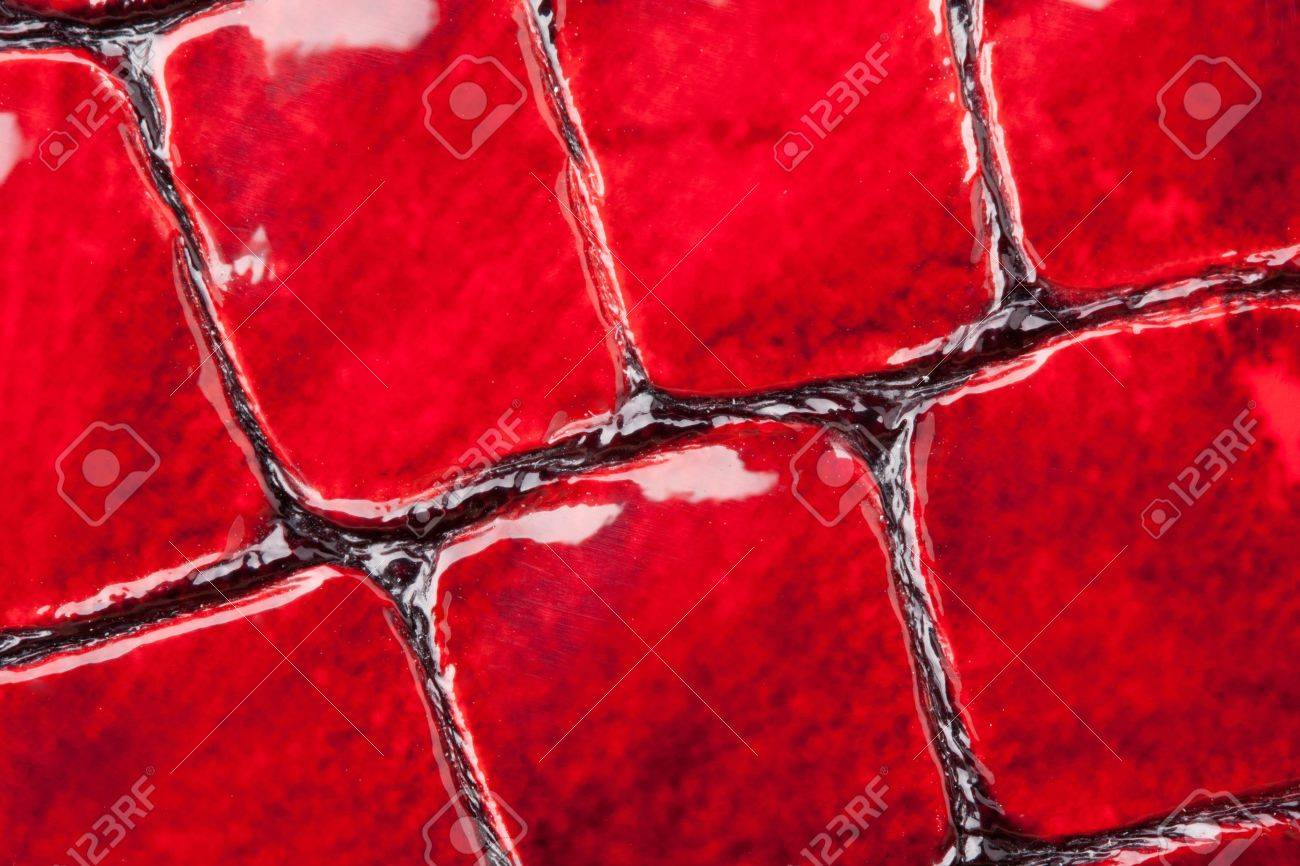 Close-up of red artificial leather background Stock Photo - 18074198
