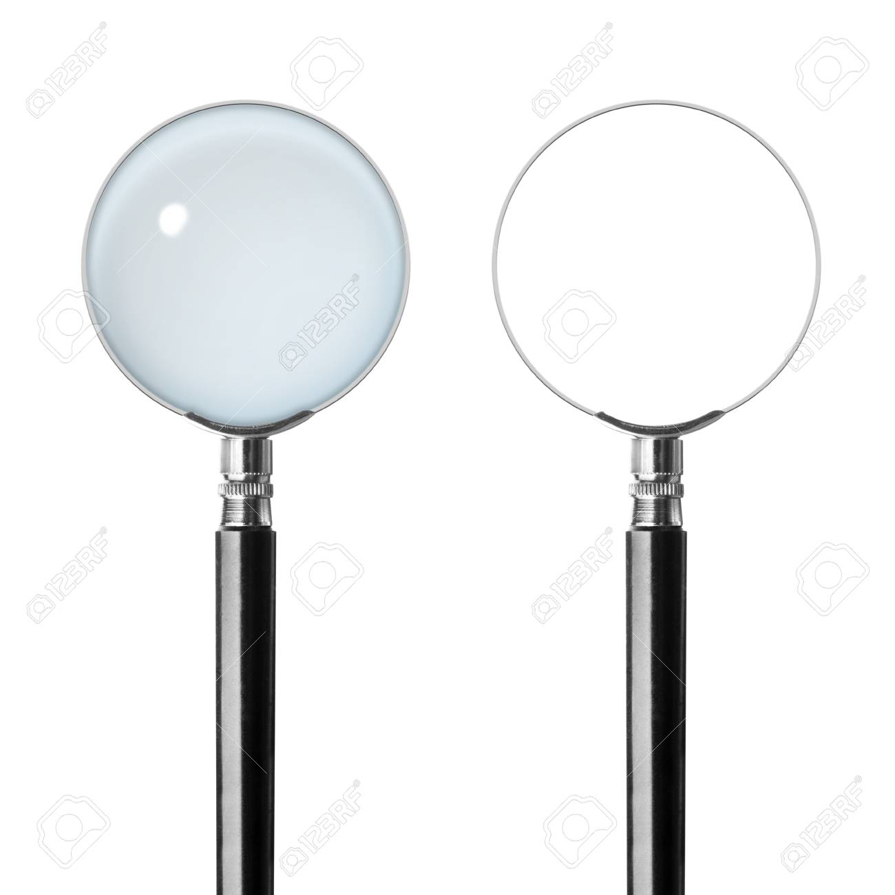 Two magnifying glasses. Isolated on white background Stock Photo - 18103076