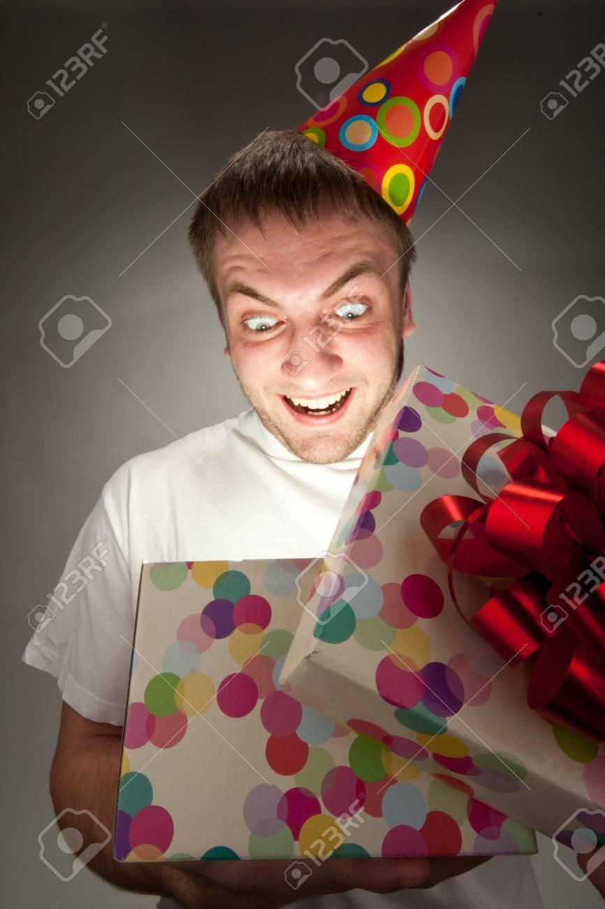 Herzlichen Gluckwunsch Zum Geburtstag Mann Eroffnung Grossen Geschenk