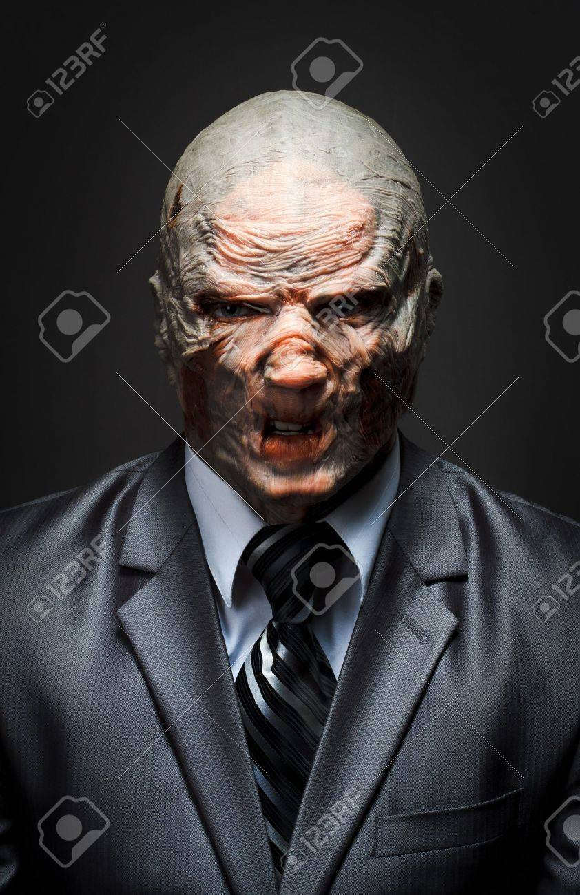 Angry monster in business suit Stock Photo - 18400594