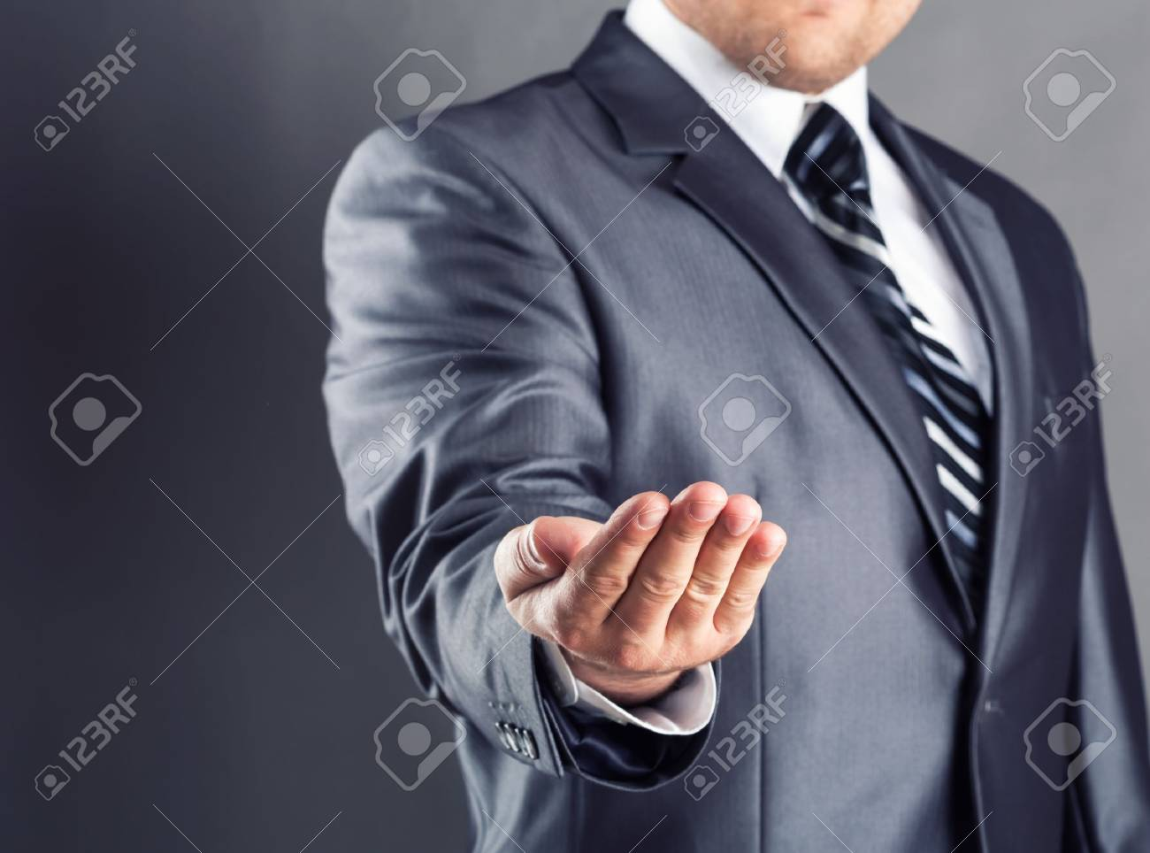 Unrecognizable businessman asking for bailout Stock Photo - 18954735
