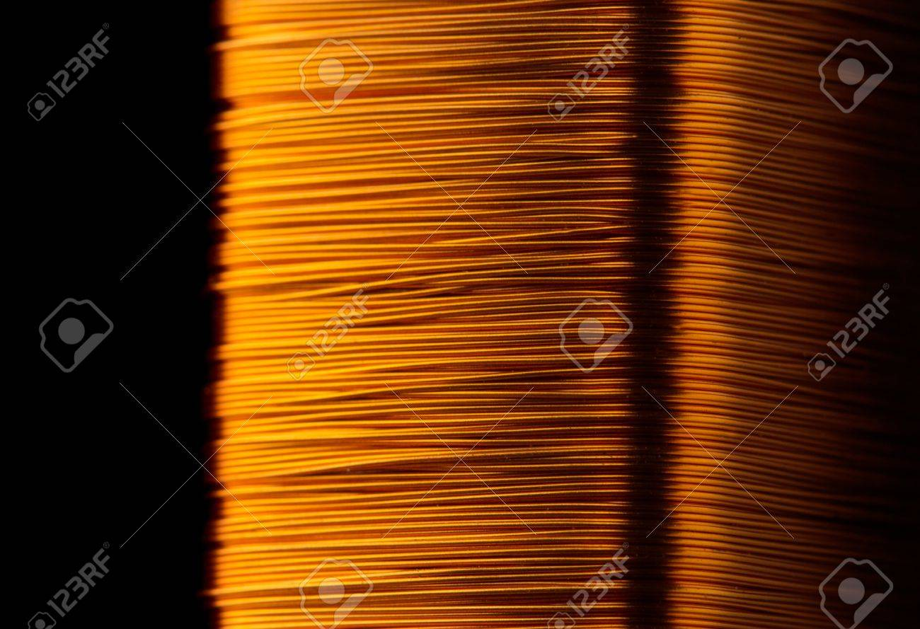 Rolled copper wire of electrical transformer Stock Photo - 20693128