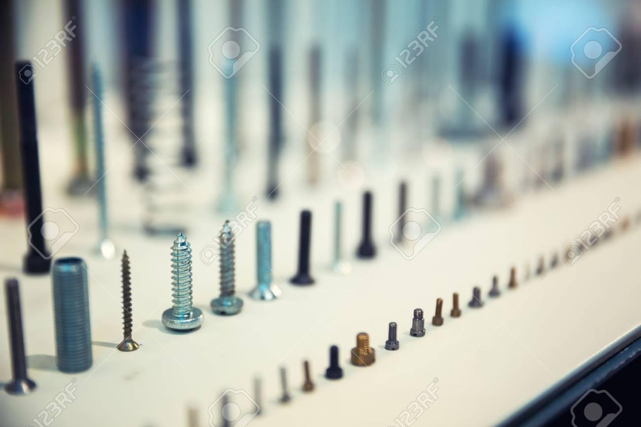 Set of assorted industrial screws Stock Photo - 21205561